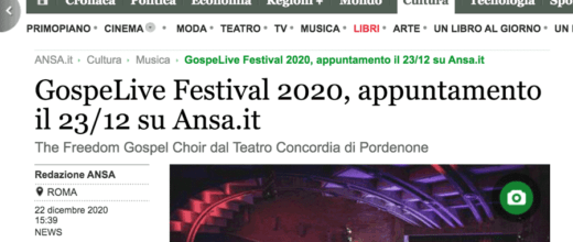 Gospel live su Ansa.it